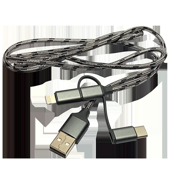 კაბელი USB  3/1 (ნაცრისფერი)